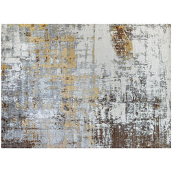 Silver Brown Multi Abstract Rug