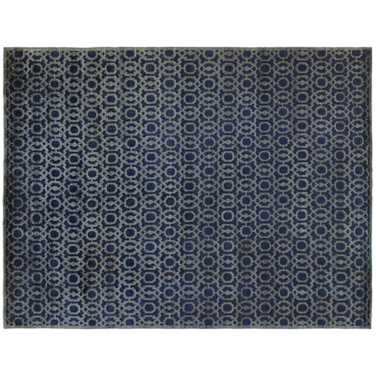 Navy Interlaced Rug