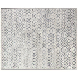 White on Silver Interlaced Rug