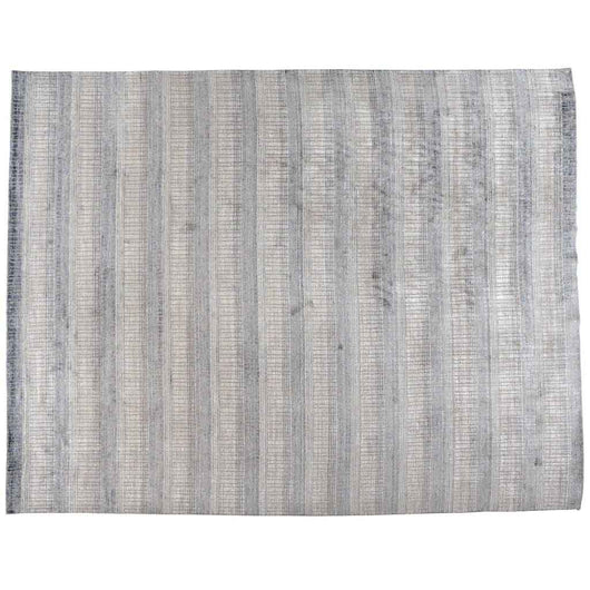 Beige and Steel Blue Contemporary Area Rug