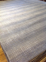 Beige and Steel Lines Area Rug