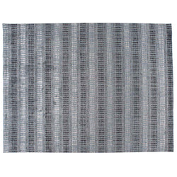 Blue and Grey Lines Area Rug