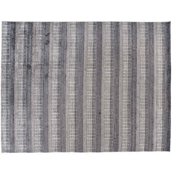 Charcoal and Grey Lines Area Rug