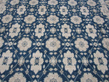 Traditional  Tabriz Design Rug in Blue and Beige