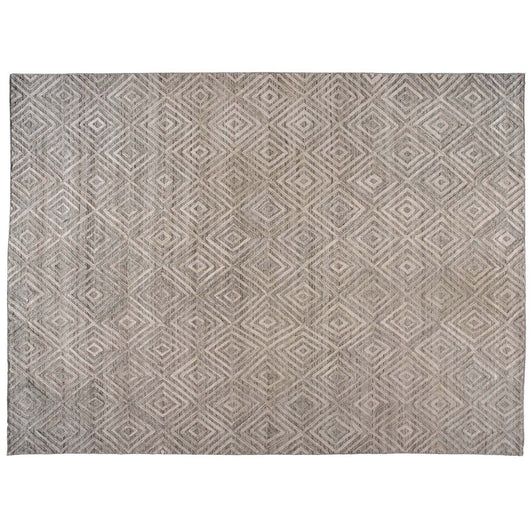 Camel and Ivory High Low Rug