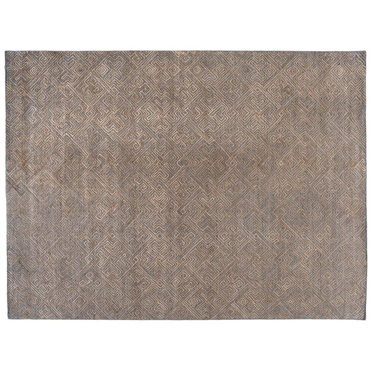 Charcoal High Low Geometric Design Rug