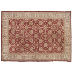 Traditional Red and Beige Pakistani Rug