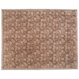 Traditional Pakistani Rust with Beige Floral Area Rug