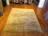 Gold and Brown Traditional Pakistani Area Rug