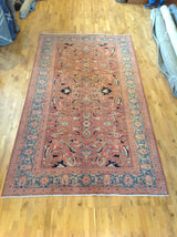 Red and Teal Rug in Traditional Pakistani Design