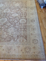Traditional Brown and Beige Pakistani Rug