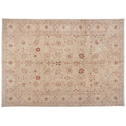 Beige Rug with Traditional Pakistani Design