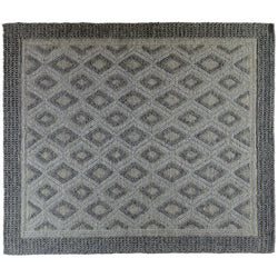 Braided Rug with Diamond Design