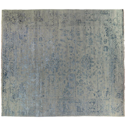 Blue Transitional Indian Area Rug
