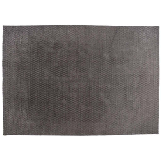 Gray Loop Cut Wool Area Rug