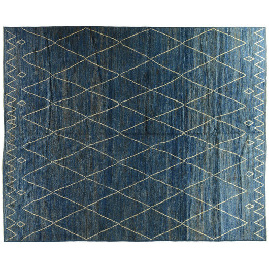 Blue Moroccan Design Rug