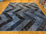 Black and Grey Overdyed Rug