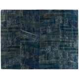 Patchwork Blue Overdyed Rug