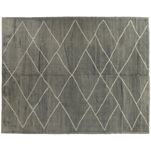 Silver Diamonds Moroccan Design Rug