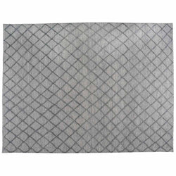 Grey  Diamonds High Low Area Rug