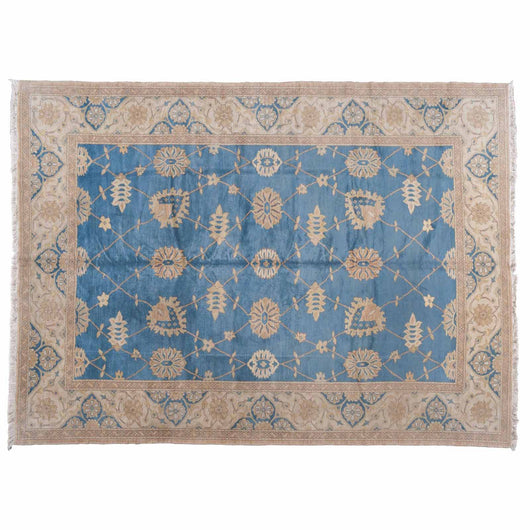 Camel and Blue Egyptian Traditional Area Rug
