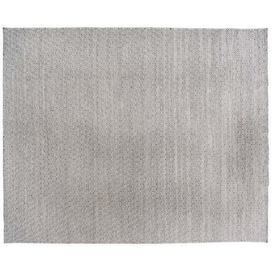 Grey and White Diamonds Flatweave Rug