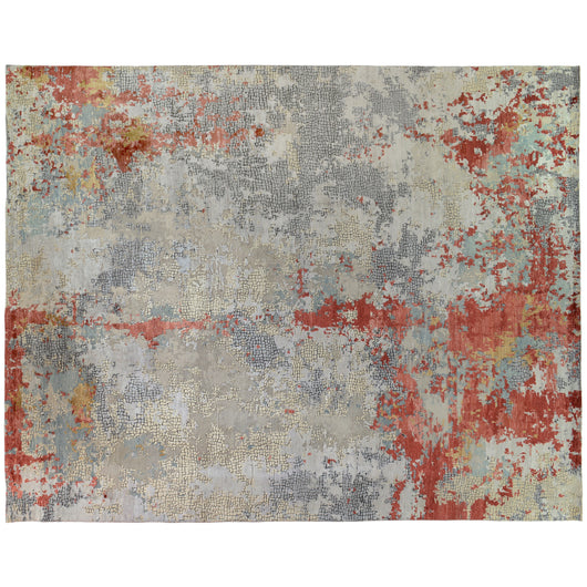Rust Abstract Design Rug
