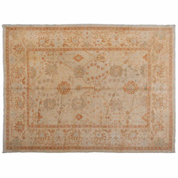 Beige and Ochre Traditional Turkish Area Rug