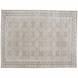Ivory and Grey Lacework Area Rug