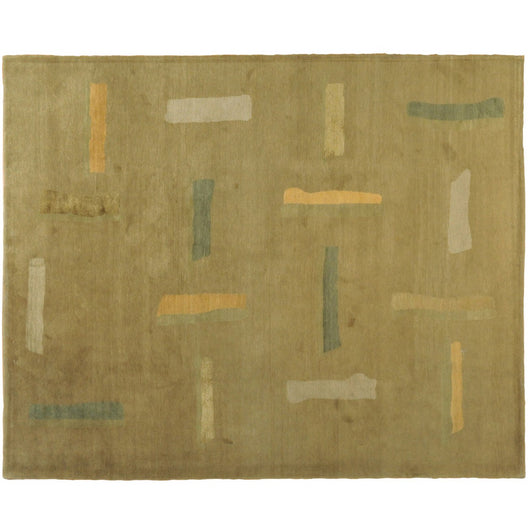 Gold Abstract Tibetan Rug