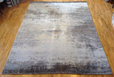 Abstract Taupe, Grey and Charcoal Rug
