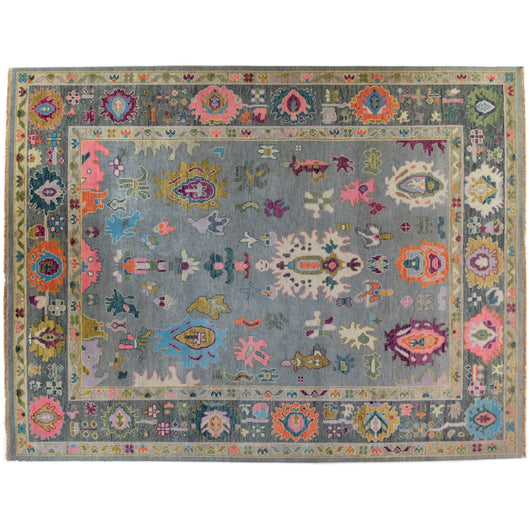 Grey Indian Wool Area Rug
