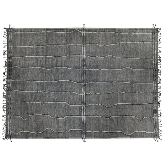 Grey Denim Moroccan Design Rug
