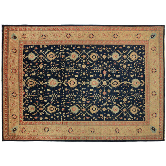 Gold and Blue Persian Design Rug