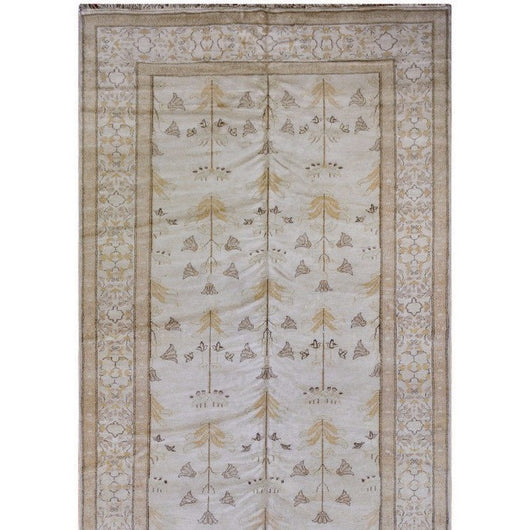 Beige and Gold Floral Runner
