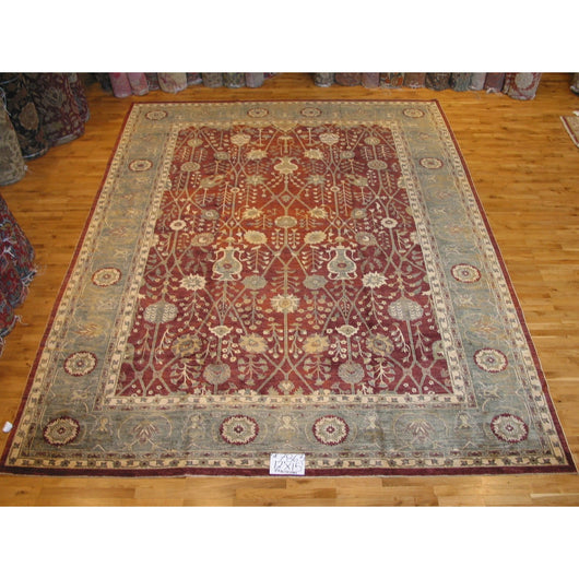Sage and Red Pakistani Rug