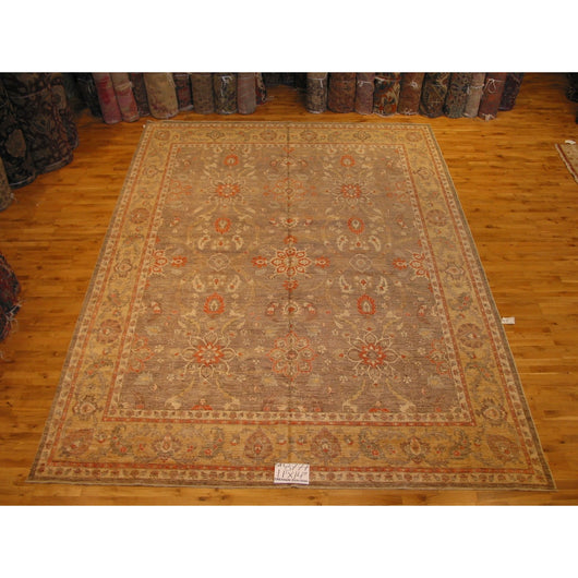 Beige and Gold Floral Rug