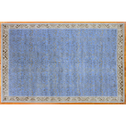 Elegant Blue and Gold Rug