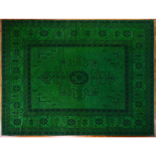 Emerald Green Overdyed Rug
