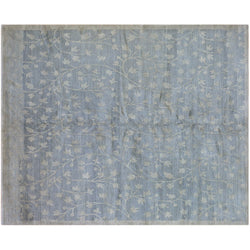Beige and Blue Floral Rug