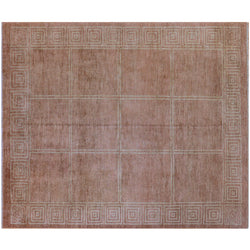 Rust Clay Squares Rug