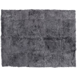 Gray Fluffy Sheepskin Shaggy Rug