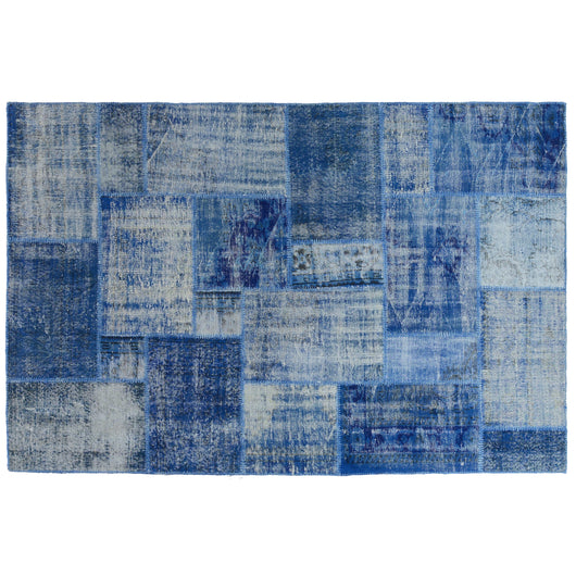 Blue Patchwork Rug