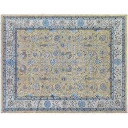 Blue and Gold Floral Rug
