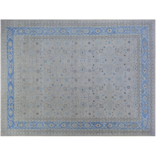 Beige and Blue Afghani Rug