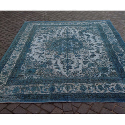 Turquoise Distressed Rug