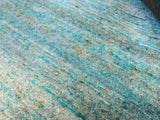 Turquoise and Silver Area Rug