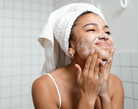 cleansing - simple skincare routine