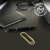 Sterling Silver .925 Paper Clip Design Money Clip, Solid and Durable. Designed and Made In Italy. By Sterling Manufacturers
