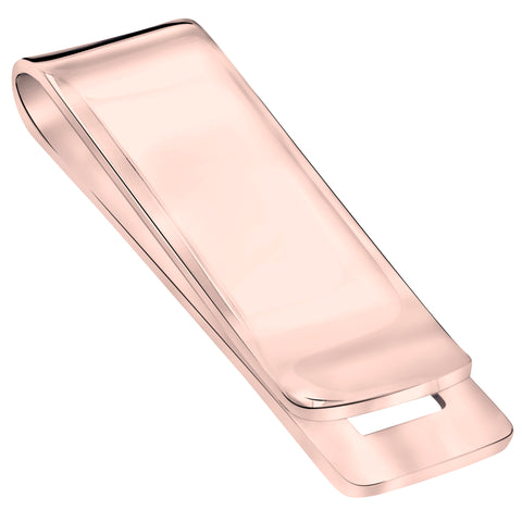 Sterling Silver .925 Engravable Solid Plain Design Money Clip, Made In Italy. By Sterling Manufacturers